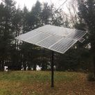 Solar panel in the trees